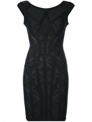 Платье с геометрическим узором Alisa Hervé Léger. Цвет: чёрный