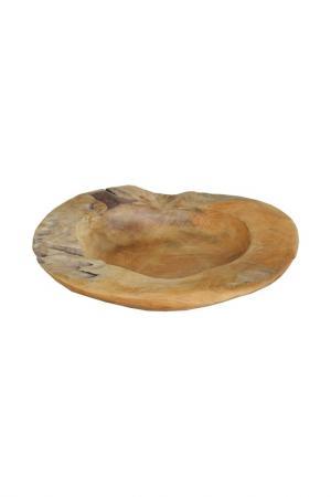 Блюдо 40x40x12 см ГЛАСАР. Цвет: коричневый