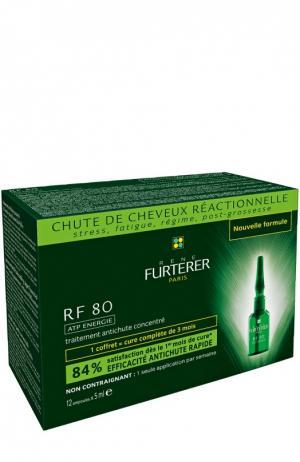 Комплекс от выпадения волос RF80 (12 ампул) Rene Furterer. Цвет: бесцветный
