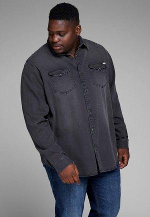 Рубашка джинсовая Jack & Jones. Цвет: серый
