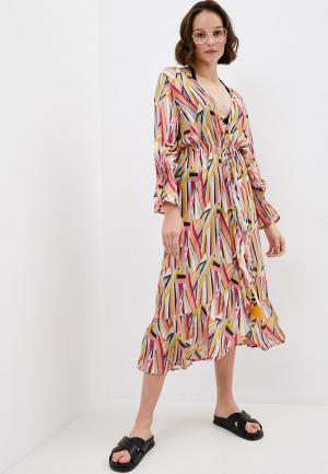 Платье пляжное Milonga. Цвет: разноцветный