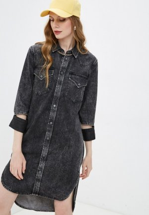 Платье джинсовое Diesel. Цвет: серый