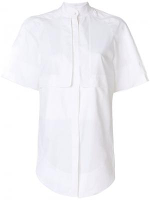 Однотонная рубашка Antonio Berardi. Цвет: белый