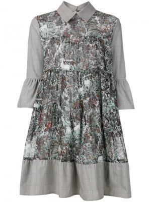 Платье-рубашка с рукавами-колокол IM Isola Marras I'M. Цвет: серый