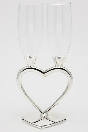 Набор бокалов Сердце, 2пр. MARQUIS. Цвет: серебристый