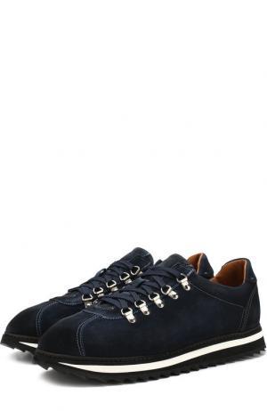 Замшевые кроссовки на шнуровке Doucals Doucal's. Цвет: синий