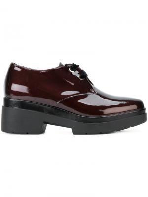 Туфли со шнуровкой на платформе Albano. Цвет: красный