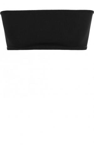Однотонный топ-бюстье из вискозы Balmain. Цвет: черный