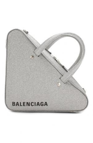 Сумка Triangle Duffle XS Balenciaga. Цвет: серебряный