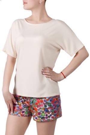 Пижамный комплект Sonett. Цвет: кремово-зеленый
