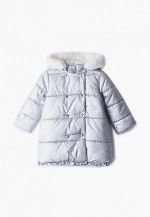 Куртка утепленная Chicco. Цвет: серебряный
