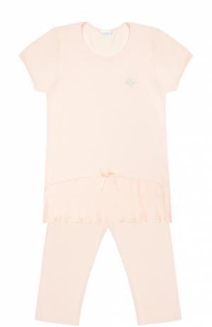 Пижама из модала с бантом La Perla. Цвет: розовый