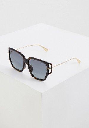 Очки солнцезащитные Christian Dior. Цвет: коричневый