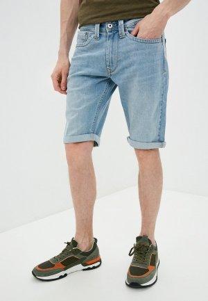 Шорты джинсовые Pepe Jeans. Цвет: голубой