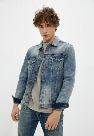 Куртка джинсовая AllSaints. Цвет: синий