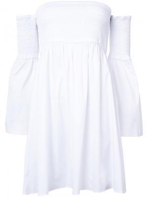 Платье на одно плечо Milly. Цвет: белый