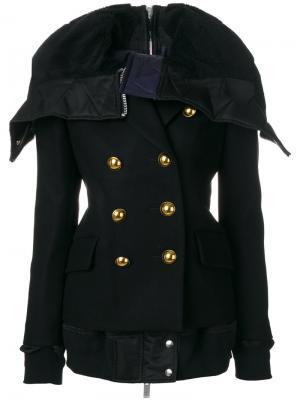 Куртка милитари с большим воротником Sacai. Цвет: чёрный