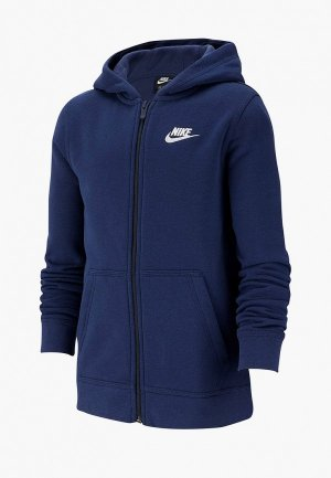 Толстовка Nike. Цвет: синий
