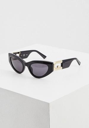 Очки солнцезащитные Furla. Цвет: черный