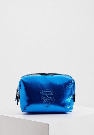 Косметичка Karl Lagerfeld. Цвет: синий