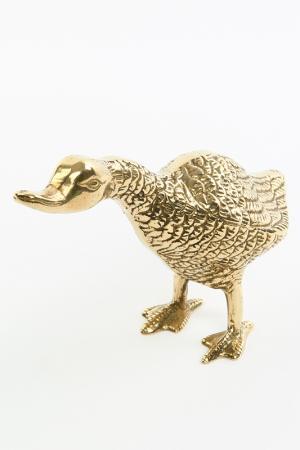 Статуэтка Утка Stilars. Цвет: золотой