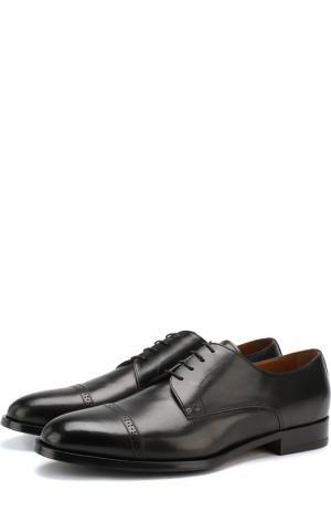 Кожаные дерби на шнуровке Doucals Doucal's. Цвет: черный
