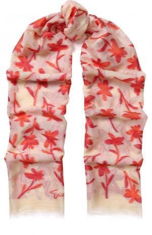 Шаль с цветочным принтом Giorgio Armani. Цвет: разноцветный