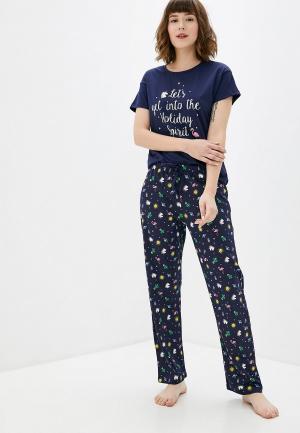 Пижама Koton. Цвет: синий