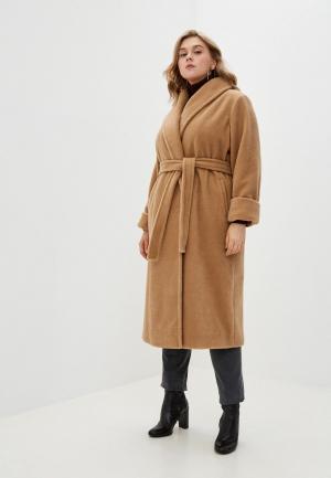 Пальто Persona by Marina Rinaldi. Цвет: бежевый