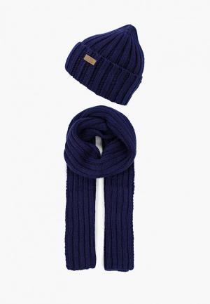Шапка и шарф Ferz. Цвет: синий