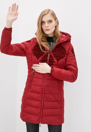 Куртка утепленная Desigual. Цвет: красный