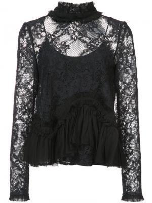 Кружевная блузка Karenza Alexis. Цвет: чёрный