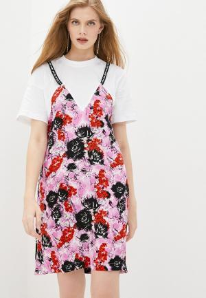 Платье Frankie Morello. Цвет: разноцветный