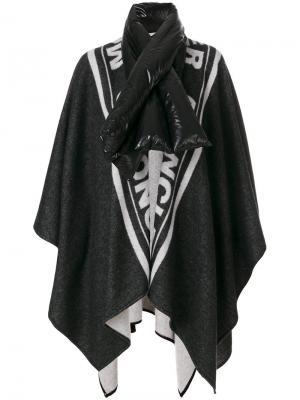 Кейп с крупным дутым воротом-шарфом Moncler. Цвет: чёрный
