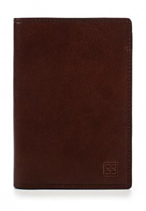 Обложка для паспорта Sergio Belotti. Цвет: коричневый
