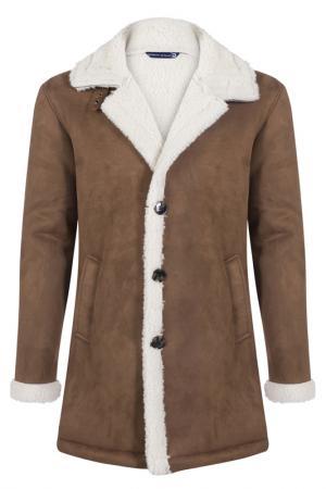 Sheepskin coat GIORGIO DI MARE. Цвет: brown