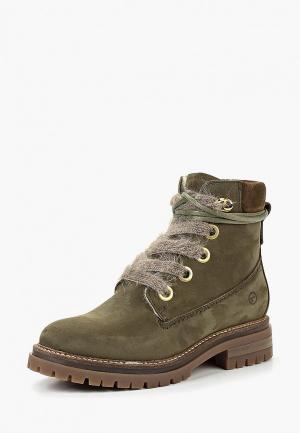 Ботинки Tamaris. Цвет: зеленый