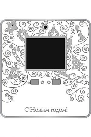 Видео открытка для записи MISTER CHRISTMAS. Цвет: белый