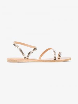 Сандалии с ремешками Eleftheria Ancient Greek Sandals. Цвет: коричневый