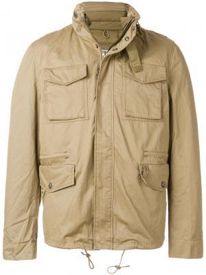 Классическая куртка карго Edwin. Цвет: зелёный