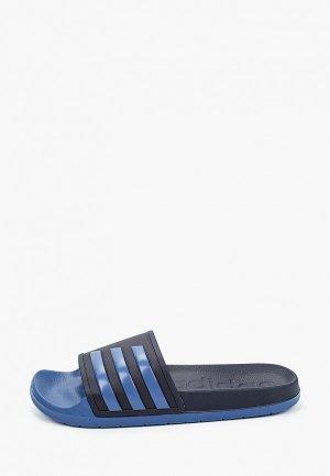 Сланцы adidas. Цвет: синий