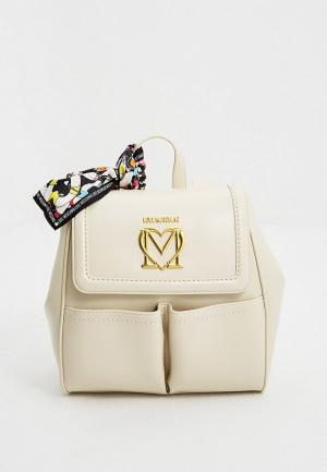 Рюкзак Love Moschino. Цвет: бежевый
