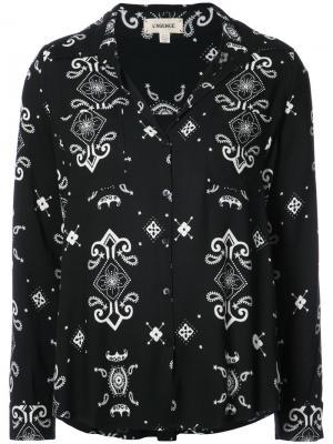 Блузка с узором Lagence L'agence. Цвет: чёрный