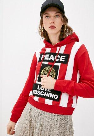 Худи Love Moschino. Цвет: красный