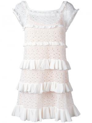 Платье Genziana Antonino Valenti. Цвет: белый
