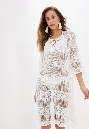 Платье пляжное Indiano Natural. Цвет: белый