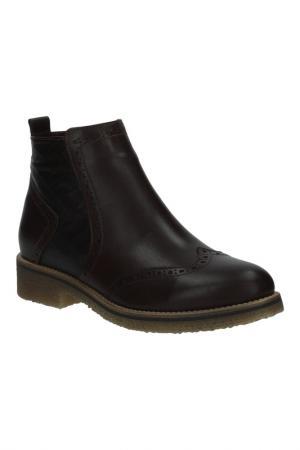 Ботинки BENTA. Цвет: коричневый темный