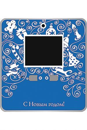 Видео открытка для записи MISTER CHRISTMAS. Цвет: синий