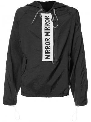Куртка анорак Mirror Off-White. Цвет: чёрный