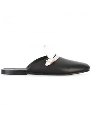 Сабо с ремешком Ancient Greek Sandals. Цвет: чёрный